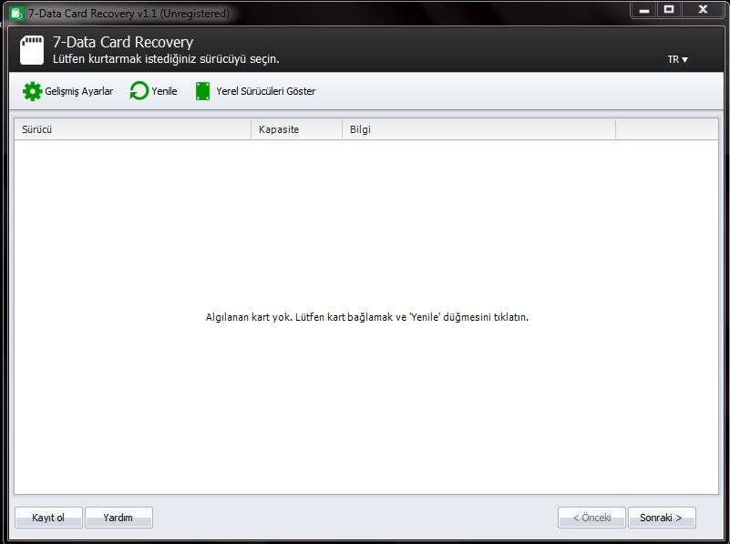 7-Data Card Recovery 1.1 son sürümü indir