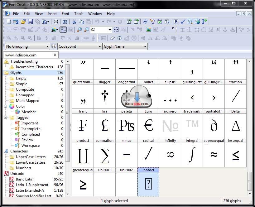 FontCreator karakter yazı programı