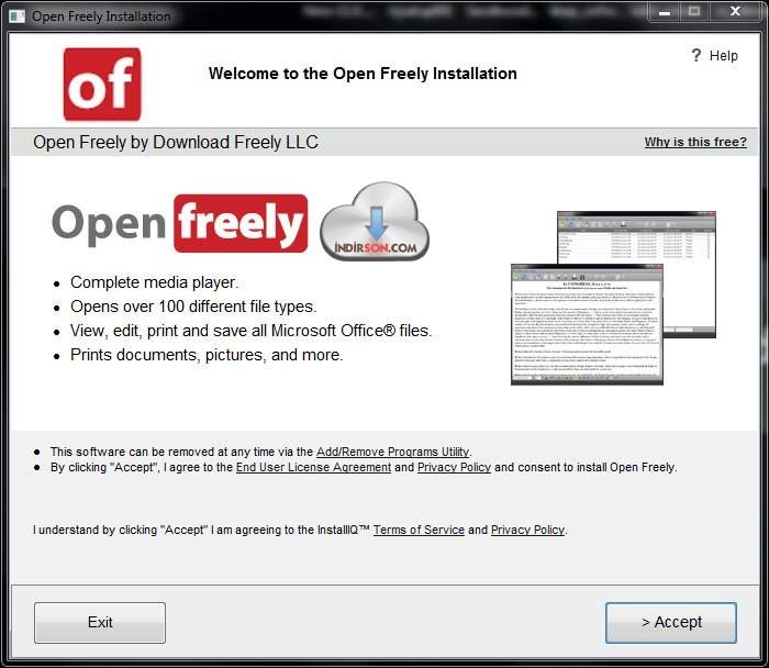 Open Freely indir