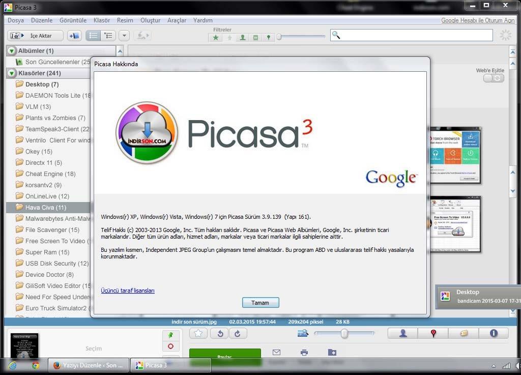 Picasa son sürüm