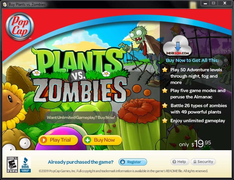 Plants vs Zombies indir