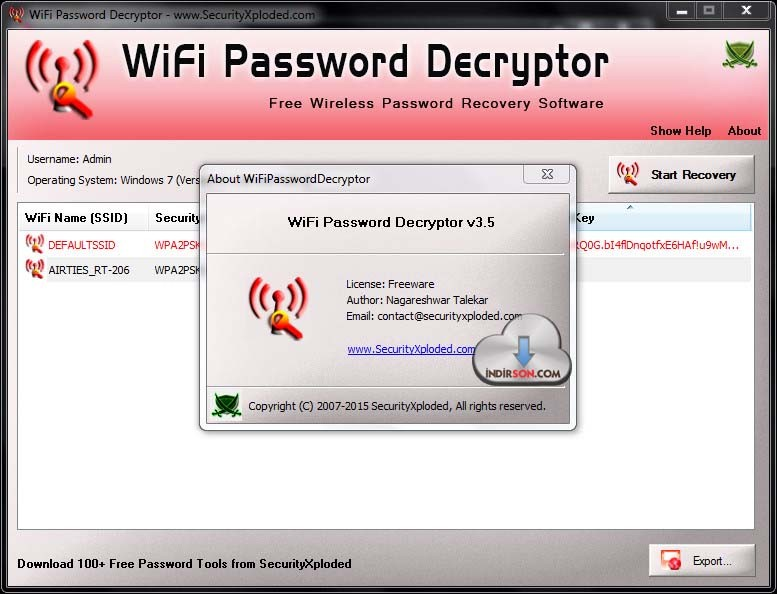 WiFiPasswordDecryptor2